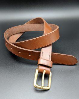 The Single Belt - Conker - Brass