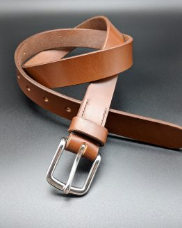 The Classic Belt - Conker - Stainless Steel