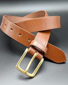 The Dual Belt - Conker - Brass