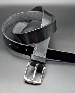 The Classic Belt - Black - Stainless Steel