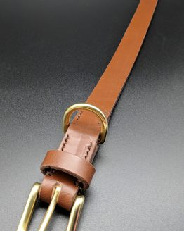 The Classic Dog Collar - Conker - Brass