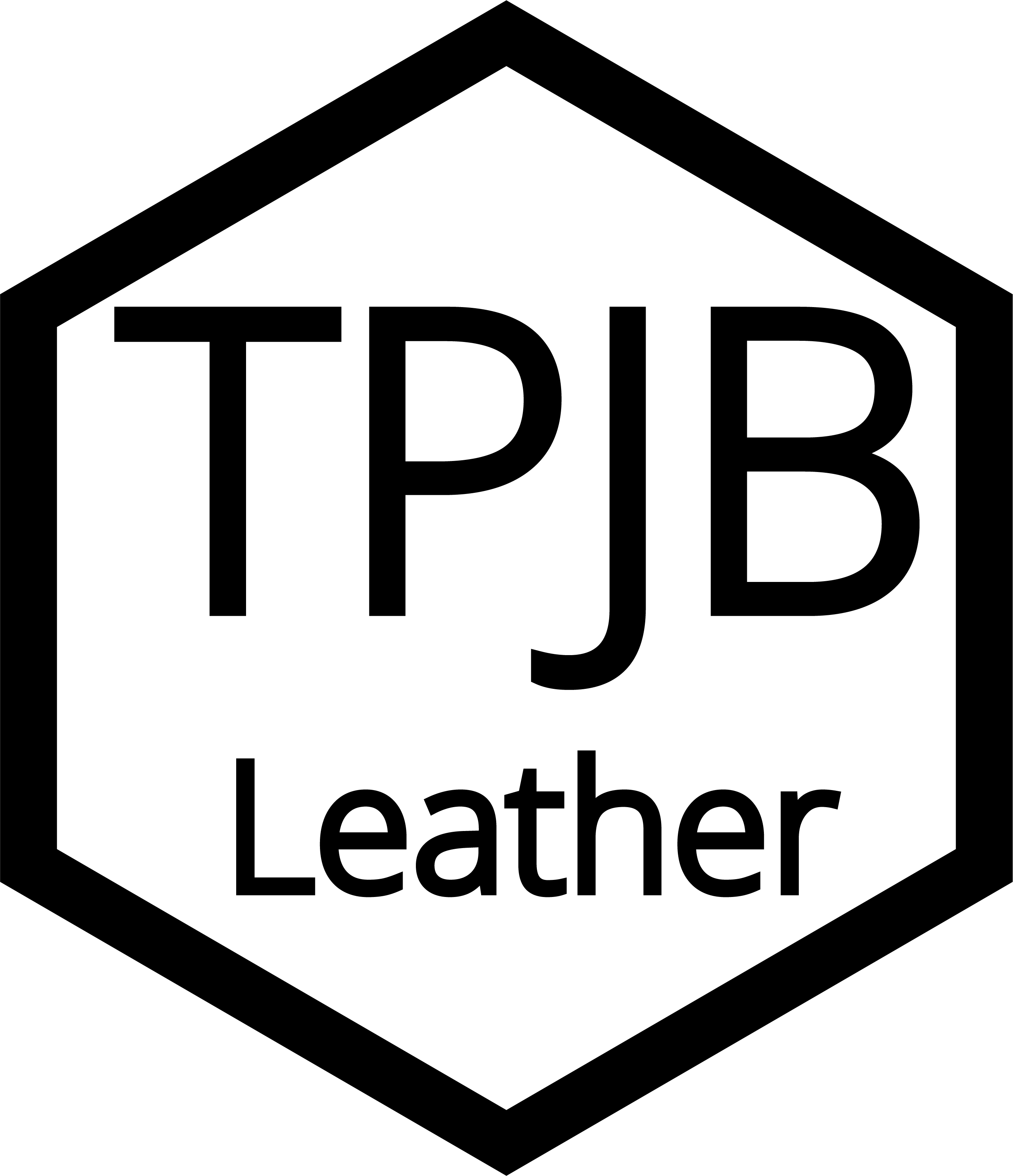 TPJB Leather Logo - Tanis Brain