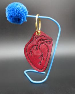 Heart keyring - Leather